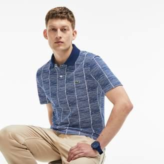 Lacoste Men's Slim Fit Print Cotton Pique Polo