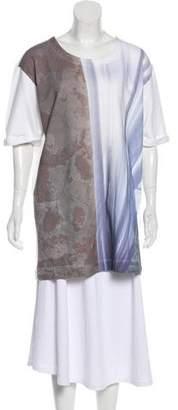 MM6 MAISON MARGIELA Printed Short Sleeve Tunic w/ Tags