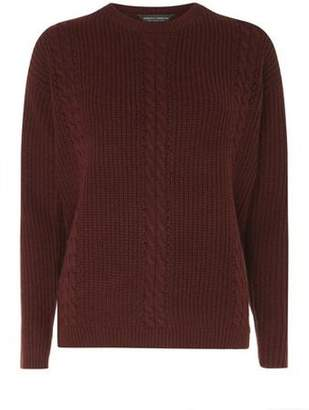Dorothy Perkins Womens **Tall Red Cable Front Jumper