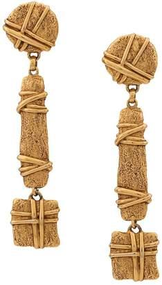 Christian Lacroix Pre-Owned oversized geometric earrings