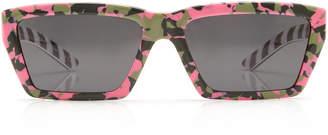 Prada Square-Frame Printed Acetate Sunglasses