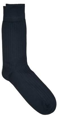 Corgi Lightweight Cotton Blend Socks in Navy