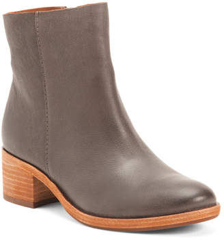 Comfort Leather Side Zip Boots