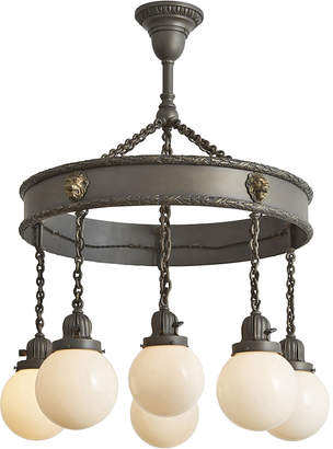 Rejuvenation Large 6-Light Ring Chandelier w/ Lion & Laurel Motif