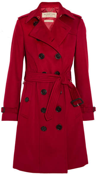 Burberry - The Sandringham Cashmere Trench Coat - Red