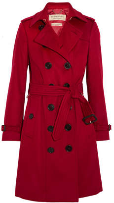 Burberry - The Sandringham Cashmere Trench Coat - Red $2,900 thestylecure.com