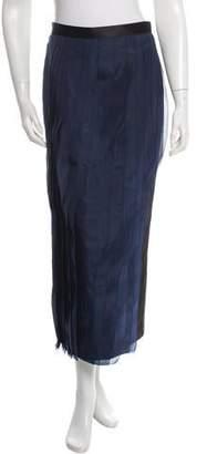 Tibi Silk-Accented Midi Skirt w/ Tags