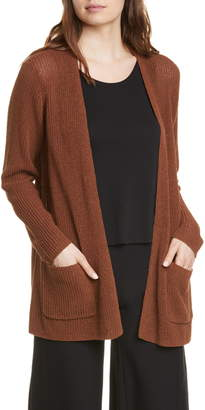 Eileen Fisher Organic Linen & Cotton Blend Cardigan