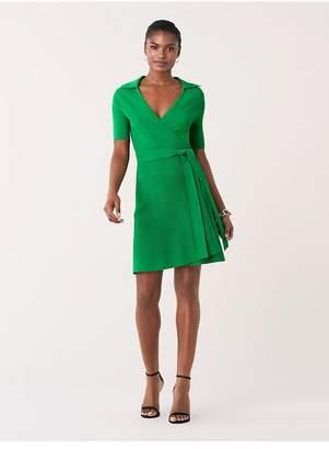 Diane von Furstenberg Zyla Stretch-Knit Mini Wrap Dress