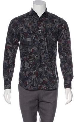 Salvatore Ferragamo Point Collar Button-Up Shirt