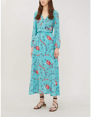 Zadig & Voltaire ZADIG&VOLTAIRE Rikko floral-print silk midi dress