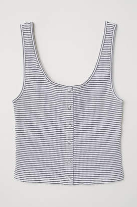 H&M Tank Top with Snap Fasteners - White