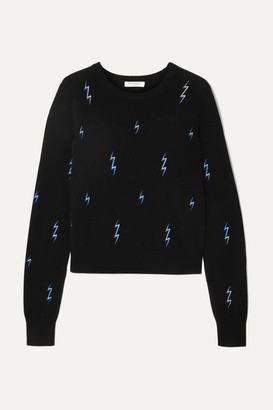 Equipment Shirley Embroidered Cashmere Sweater - Black