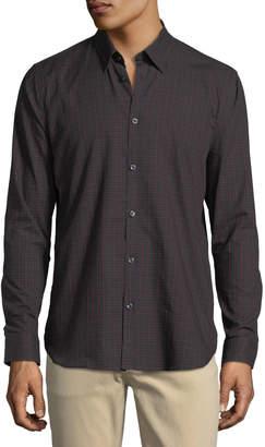 Neiman Marcus Check-Print Cotton Sport Shirt