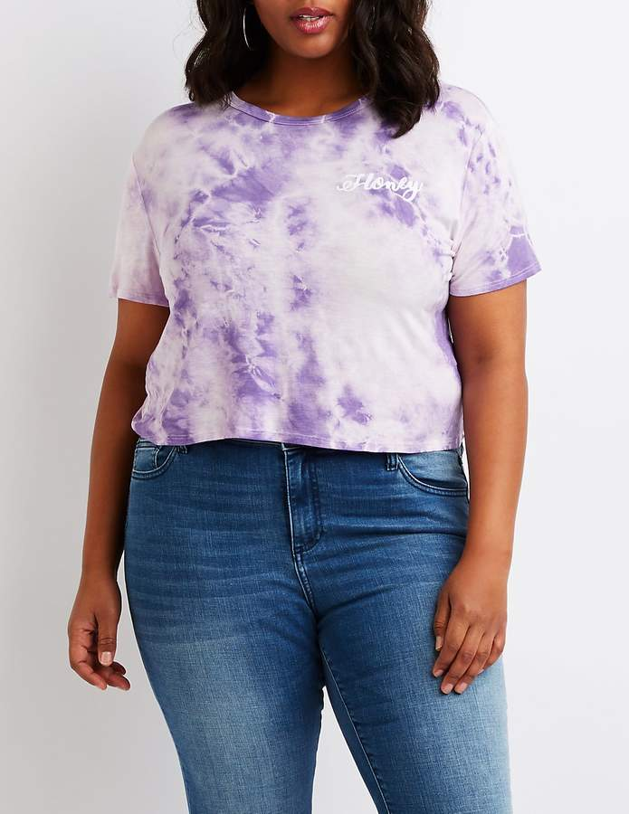 Plus Size Tie Dye Honey Tee