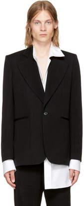 Ann Demeulemeester Black Mustang Jacket