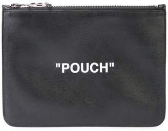 Off-White Pouch zip top clutch