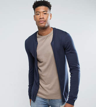 5cffcb012 Mens Knitted Zip Up Jacket - ShopStyle UK