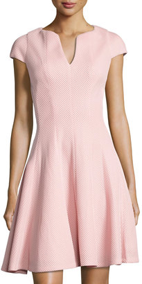 Julia Jordan Split-Neck Cap-Sleeve Dress, Pink $119 thestylecure.com
