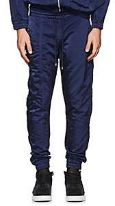Filling Pieces Men's Tech-Satin Ankle-Zip Jogger Pants - Navy