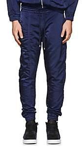Filling Pieces Men's Tech-Satin Ankle-Zip Jogger Pants-Navy