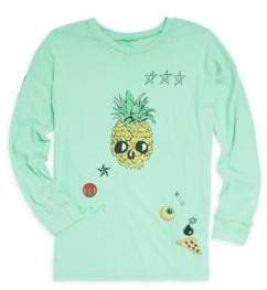 Lauren Moshi Little Boy's& Boy's Cotton Pineapple Skull Tee
