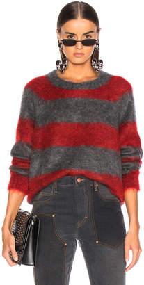 Alexander Wang Mohair Stripe Pullover Sweater