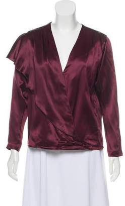 Masscob Long Sleeve Silk Blouse w/ Tags