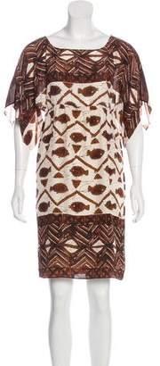 Anna Sui Silk Mini Dress