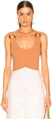 Nanushka Maike Bodysuit in Caramel   FWRD