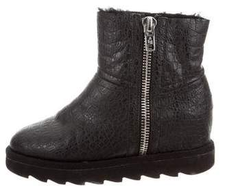 Ash Embossed Ankle Boots