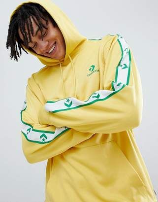 Converse Pullover Hoodie With Taped Side Stripes In Yellow 10007588-A03
