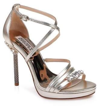 Badgley Mischka Sheri Crystal Embellished Platform Sandal