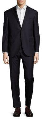 CornelianiRegular-Fit Virgin Wool & Cashmere-Blend Pinstriped Suit