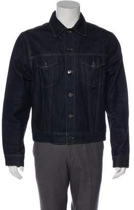 Gucci Web-Accented Denim Jacket
