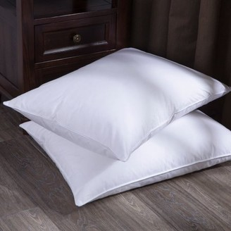 Pure Down Puredown White Goose Down and Feather Bed Pillow, Set of 2, Queen Size