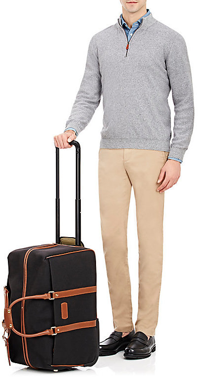 """T. Anthony Men's Canvas 21"""" Carry-On Wheeled Duffel"""