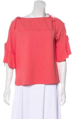 See by Chloe Short Sleeve Ruffle-Trimmed Top