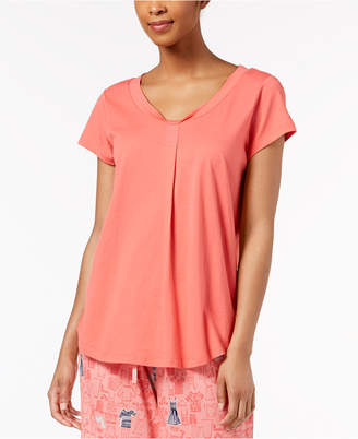Hue Solid Pleated Pajama Top