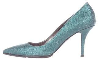 DSQUARED2 Glitter Pointed-Toe Pumps