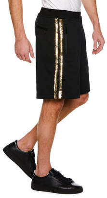 DSQUARED2 Metallic Side-Stripe Knit Basketball Shorts