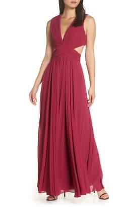 LuLu*s Vivid Imagination Chiffon Gown