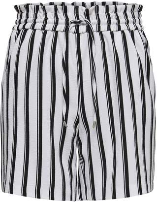 Only Drawstring Striped Shorts