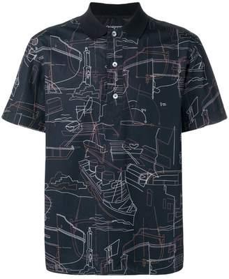 Ermenegildo Zegna abstract print polo shirt