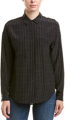 The Kooples Pajama Stripe Silk Top