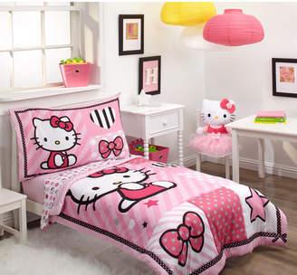 Hello Kitty Sweetheart 4 Piece Toddler Bedding Set