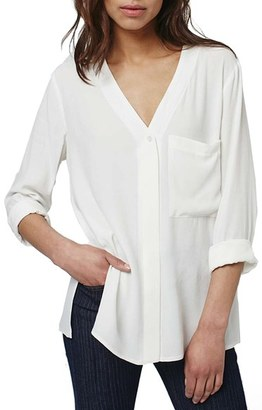 Women's Topshop Slouchy Pocket Long Sleeve Blouse $66 thestylecure.com