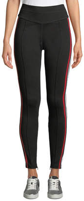 Current/Elliott The Sun High-Waist Sporty Racer Stripe Track Pants