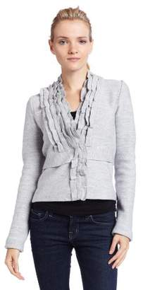 BCBGMAXAZRIA Women's Ruffled-Collar Cardigan