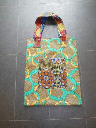 79e25be8ba07 Blanche Dlys Designs African Fell Fabric Sack Size Shopper Bag